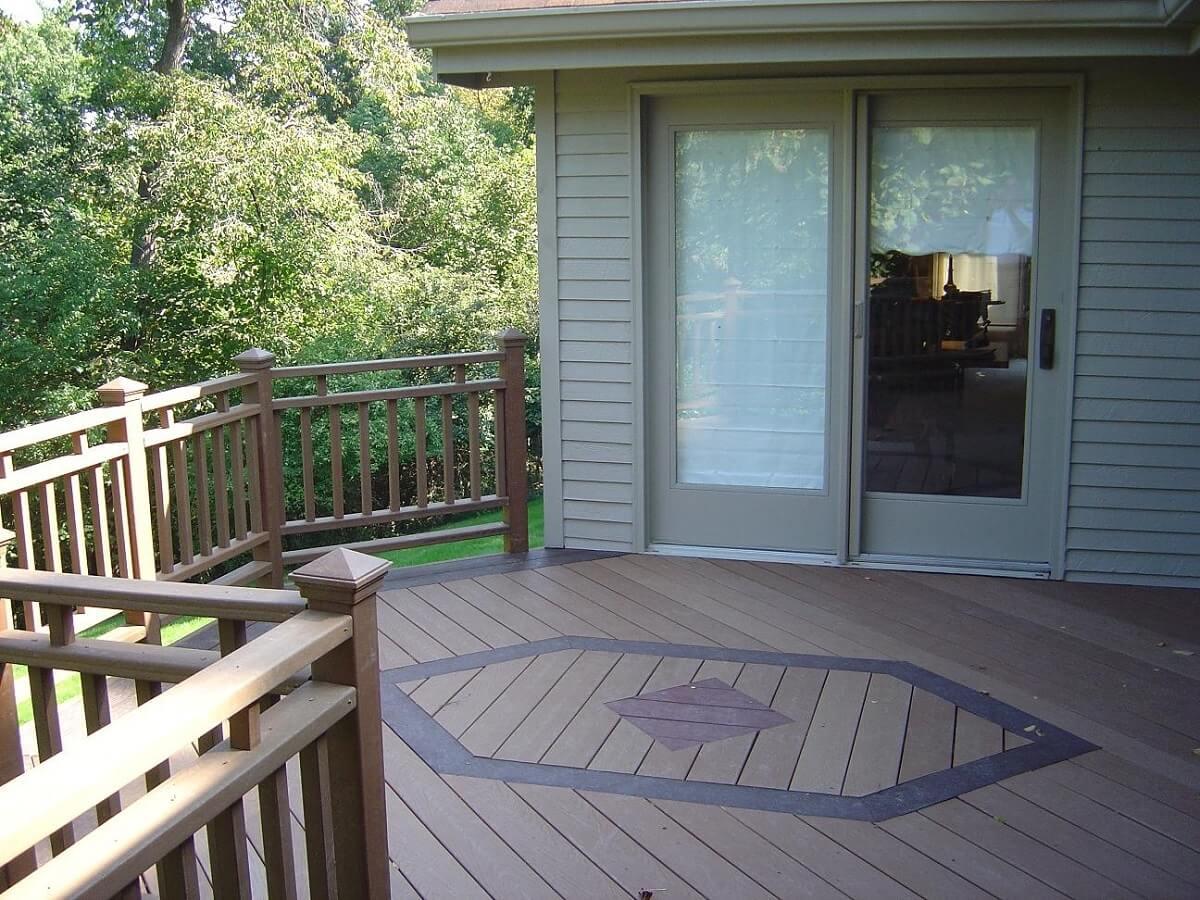 wood deck flooring and railings